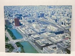 Tokyo Station And Maru-no-uchi Business Center, Tokyo, Japan Postcard - Tokyo