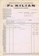ALLEMAGNE - HOMBOURG-SARRE - Fr. KILIAN - Manufacture De Chaussures - Textile & Vestimentaire
