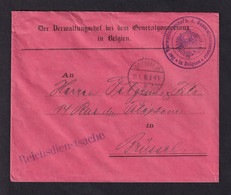 DDAA 093 - Enveloppe En Franchise BRUSSEL 1916 - Entete Et Cachet Et Sceau Der Verwaltungschef B.d. Generalgouverneur - [OC1/25] Gen. Gouv.