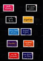 10 Timbres  Adhésifs  Oblitérés(2021) ( Croix-rouge Francaise)on Peut Le Faire Grace A Vous.(lettre Verte) - KlebeBriefmarken