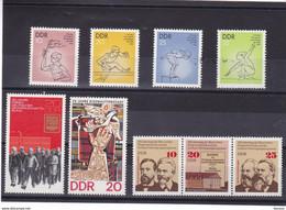 RDA 1975  Yvert 1732A-1734 + 1745-1748 NEUF** MNH - Ongebruikt