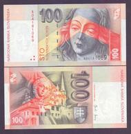 """Slowakei, 100 Kronen 2004, Prefix """"A"""", Ersatznote (Replacementnote), Sehr Selten Unc. - Slovacchia"""