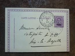1920 Carte Lettre Entier Postal 15c  Cachet Postes Militaires Belgique  PERFECT - Carte-Lettere