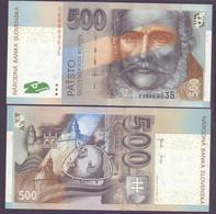 """Slowakei, 500 Kronen 2001, Pick 31, Prefix """"F"""", Selten, Unc. - Slovacchia"""
