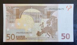 50 Euro Draghi R049 P34 Germany / Holland RRR RARE - 50 Euro
