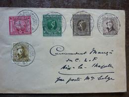1920 Lettre Cachet Conférence Diplomatique 5 Timbres Roi Casqué + Jeux Olympiques  Anvers   PERFECT - 1919-1920  Re Con Casco