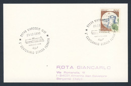 Italy Italie Italia 1990 Karte Card - Cent. Strada Ferrata - Viareggio - Lucca / Bahnstrecke Lucca – Viareggio - Treinen