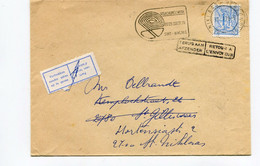 1978 ST GILLIS WAAS 1 2780 1 Stempel Op Enveloppe Van Sint Niklaas Met Stempel RETOUR En Sticker Vertrokken + Slogan - Cartas