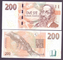 "Tschechien, 200 Kronen 2018, Prefix ""H"",  Selten, Unc. - República Checa"