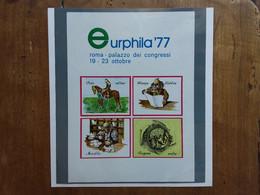 REPUBBLICA - Erinnofili - Eurphila '77 - BF Nuovo + Spese Postali - Blocks & Sheetlets