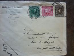 1920 Lettre Jeux Olympiques Anvers  Cachet Anvers - Storia Postale