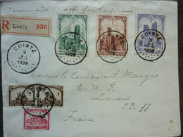 1928  Lettre Cathédrales Belges Cachet Cointe  Recto Timbre Orval - Storia Postale