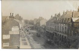 CARTE-PHOTO (2)   WW1 NORD 59 LOOS Près De Lille La  Route De Lille Vue Des Balcons -L'Eglise  (2 Cartes ) - Loos Les Lille
