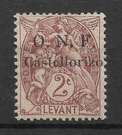 COLONIES FR. - CASTELLORIZO - O.N.F. (Occupation Navale Française) - N°15 NEUF* - F99 - Ongebruikt