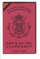 VUURKAART  CARTE DU FEU 1914-1918 - Belgium