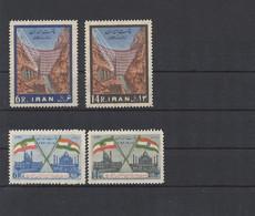 Iran 1963 MiNr. 1147/8 + 1158/9 - Postfrisch - MNH - ** - Achtung - Gummierung Bräunlich Verfäbt ! - Iran