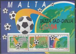 MALTA  Block 14, Postfrisch **, Fußball WM USA, 1994 - Malta