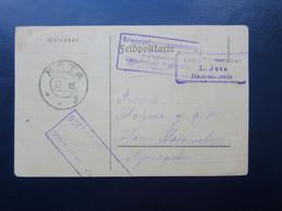 WWI Prisoner PC / WAR CENSOR  Cancel Russia / Austria - Storia Postale