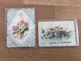 2 Chromos CACAO A Driessen Fleures Rotterdam RARE Vendu En état (1 Chromos Fortement Plié) - Autres