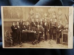 Photo CDV E. Appert à Paris - Napoléon III Et Ses Ministres, Second Empire Circa 1865-70 L557E - Oud (voor 1900)