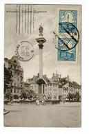 Warsawa - Kolumna Zygmunta (animation) - Circ 1925, Echange Collectionneurs - Pologne