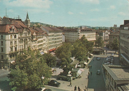 SVIZZERA POST CARD St. GALLEN MARKPLATZ ANNO 1964 VIAGGIATA ANIMATA - SG St. Gallen