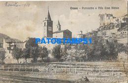 166892 ITALY ORMEA PARISH AND VILLA CASA BLANCA SPOTTED POSTAL POSTCARD - Unclassified