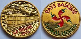 MONEDA Medalla Souvenir FRANCIA 34mm, 12g, Color: Train La Rhune 905m, Pays Basque, Euskal Herria, Euskadi - Other