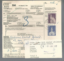 58555) Switzerland Bulletin D'Expedition 1967 Postmark Cancel - Brieven En Documenten
