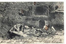 CPA   CHAMPDENIERS   La Grande Fontaine, Le Lavoir - Champdeniers Saint Denis