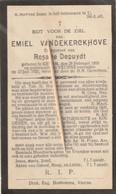 Keiem, Keyem, Veurne, 1923, Emiel Vandekerckhove, Depuydt - Images Religieuses