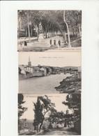 6 CPA:LIMOUX (11) FONTAINE PLACE DE LA RÉPUBLIQUE,PONT,PROMENADE DU TIVOLI STATUE,VUE - Limoux