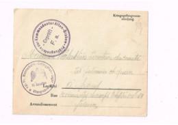 Kriegsgefangenensendung.Altengrabow.Expédié à Paris. - Lettres & Documents