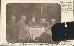 Turnhout, Bezetting België, Vlaanderen, Oorlog 1914-1918 Duitse Officieren In Casino Sep 1917 Met Namen Fotokaart - War 1914-18