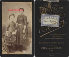 CDV Vers 1880 à Jouy Sous Thelle Petite Commune De L'Oise-L Et B DELAVILLE-badminton-jouet-sport - Old (before 1900)
