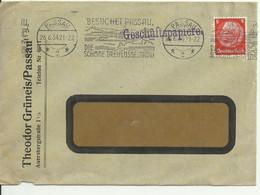 Cover Letter/brief From Passau 1934. Cancellation BESUCHET PASSAU. - Storia Postale