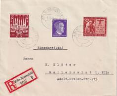 ALLEMAGNE 1943 LETTRE RECOMMANDEE DE KÖLN-BRAUNSFELD - Lettres & Documents