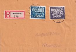 ALLEMAGNE 1944 LETTRE RECOMMANDEE DE MINDELHEIM - Briefe U. Dokumente