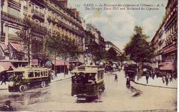 (75). Paris. 157 Boulevard Des Capucines Et Olympia. Autobus Bus - Trasporto Pubblico Stradale