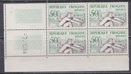 France N° 964 XX J. O. Helsinki : Aviron En Bloc De 4 Coin Daté Du 7 . 1 . 54 ;  1 Trait, Sans Charnière, TB - Ongebruikt