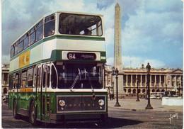 (75). Paris La Concorde. Ed Yvon EKB 8358. Autobus à Imperiale & 7046 & Statue De La Republique - Piazze