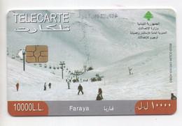Faraya 2007 Used Phonecard, Lebanon , Liban Telecarte Libanon - Liban