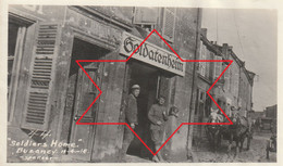 Photo Novembre 1918 BUZANCY (près Vouziers) - Une Rue, Soldats Américains (A232, Ww1, Wk 1) - Other Municipalities