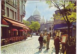 (75). Paris. Sacre Coeur. 70 & 530 Place Du Tertre & 5120 Vieux Montmartre & Montmartre Aquarelle & Porte St Cloud (2) - Sacré Coeur