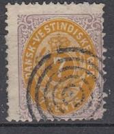++M1672. Danish West Indies 1874. Michel 8. Cancelled. CORNERFOLD - Dinamarca (Antillas)