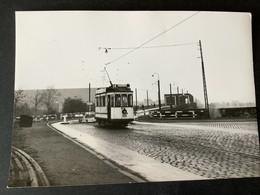 Photographie Originale De J.BAZIN : Tramways De STRASBOURG , Réseau Urbain:PONT Sur Le RHIN ( Kehl) En 1953 - Trenes
