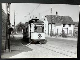 Photographie Originale De J.BAZIN : Tramways De STRASBOURG , Réseau Urbain :WOLFISHEIM  En 1955 - Trenes