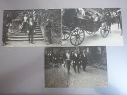 3 Photos Chalon-sur-Saône, Saône-et-Loire, 1913, Réception M. Thierry, Ministre. - Plaatsen