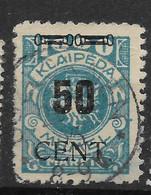 Memel, Gestempelter Wert Überdruck-Ausgabe Vom Mai 1923, - Klaipeda