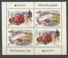 Roumanie Bloc Europa 2013 ** Vehicules Postaux -  Theme Velo Bicycle - 2013